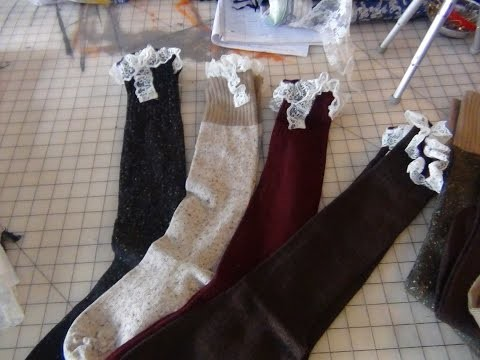 DIY LACEY BOOT SOCKS