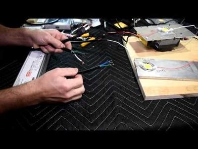 DIY LED Basics: wiring LEDs.COBs to driver (pt 5.6)