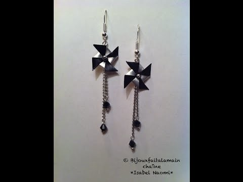 DIY Nespresso How to make pinwheel earrings