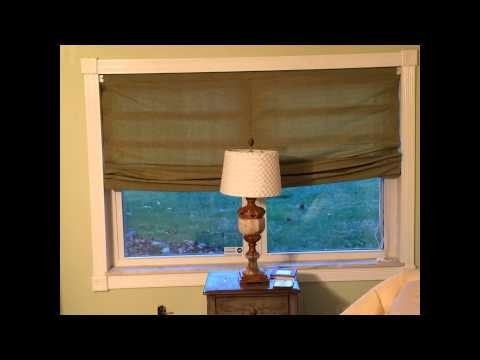 DIY No sew Roman Shade Large window 72 x48 Ladder cords no center cord.