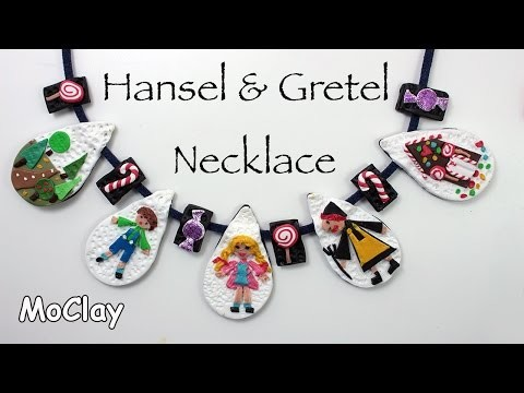 DIY Polymer clay Necklace - Hansel and Gretel