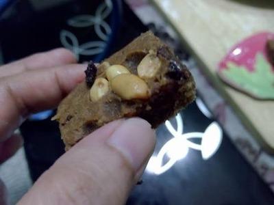 DIY star margarine chocolate brownie using a rice cooker