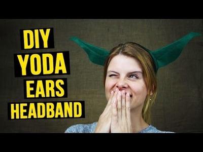 DIY Yoda ears headband