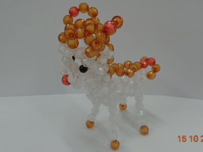 How to make a Beaded deer  beaded bead Tutorial-part 2-kết hạt cườm