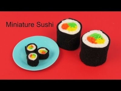 How to Make Miniature Sushi.Life Size Sushi DIY Tutorial by Elegant Fashion 360