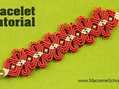 Macramé Diamond Flower Bracelet Tutorial | Macrame School