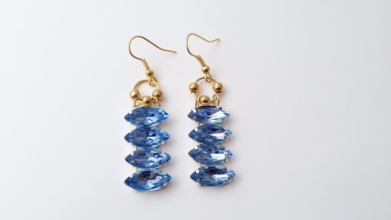 Make Beautiful Gem Drop Earrings - DIY Style - Guidecentral