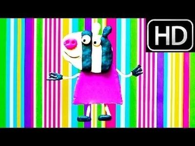Zoe Zebra How to make Peppa Pig Play-Doh plastilina easy tutorial George Pig HD