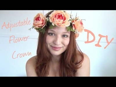 Adjustable Flower Crown ♥ DIY Fashion