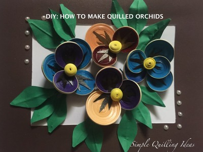 Arts And Crafts : DIY Quilled Pansy Flowers