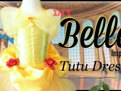 Belle Costume Tutu Dress - DIY Tutorial