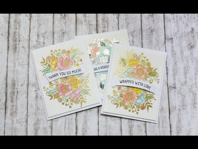 DIY Banners Set of Watercolor Cards ft Botanical Bunch WPlus9