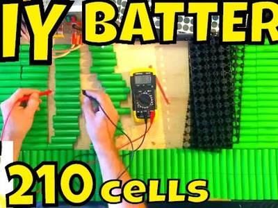 DIY Battery: preparing 210 x 18650 LG cells (time lapse) • Electric Bike Battery