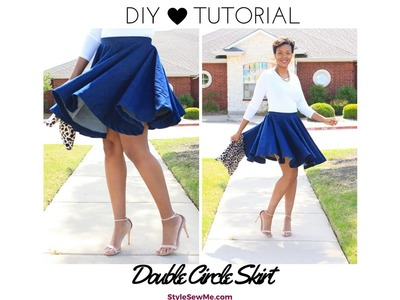 DIY Double Circle Skirt Tutorial - No Math Needed!