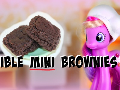 DIY: EDIBLE Mini Brownies For Toys & Dolls | Tutorial