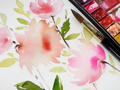 DIY Flower Painting - A bug drank my watercolor !!