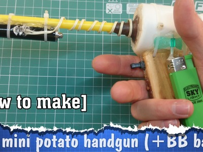 DIY gun pistol (mini spud gun)