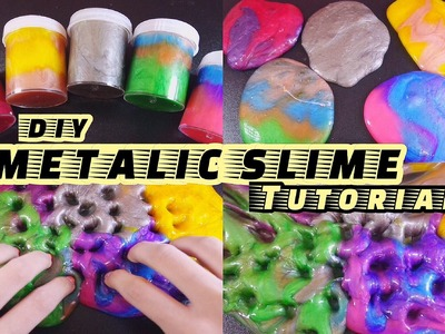 DIY METALIC SLIME ORIGINAL RECEIPE by ME - METALIC GALAXY SLIME MUDAH [BHS INDONESIA]