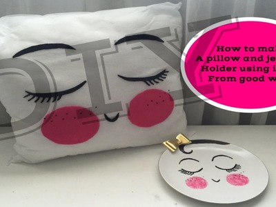 DIY pillow & jewelry holder.girl pencil holder