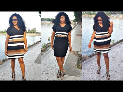 DIY SEWING| HOW TO MAKE A SIMPLE DRESS.TOP IN LESS THAN 10MINS