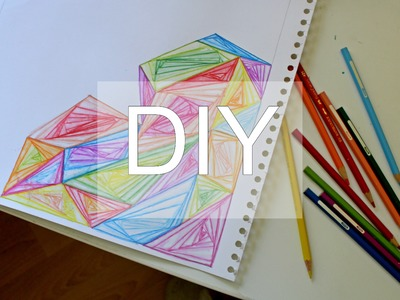 DIY Watercolor Zentangle Paradox Heart