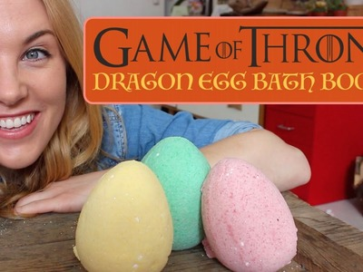 GAME OF THRONES DRAGON EGG BATH BOMB DIY (with Suprise Hidden Dragons!)