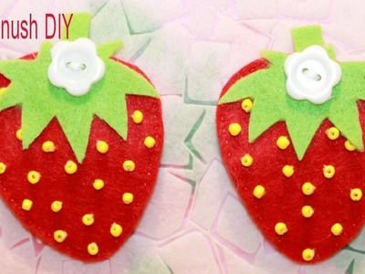How to Make Felt Strawberry Hair Clip ❀ Haykanush DIY