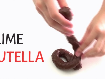 NUTELLA SLIME - How to make edible Chocolate Play Doh DIY