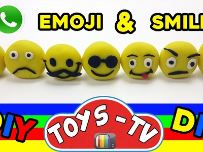 Play Doh How To Emoji Smiley Face DIY Play Doh Toys Tv