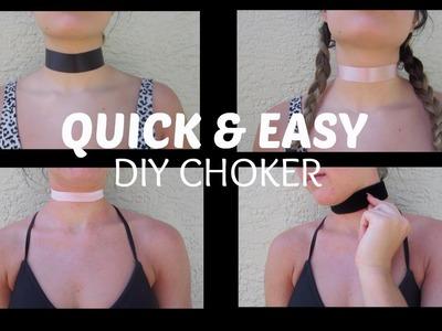 QUICK & EASY DIY VELVET.RIBBON CHOKER   THREADSOBSESSED