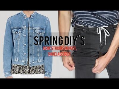 Spring DIY'S ( Acne Studios Distressed Denim Jacket, Shoe Lace Belt)