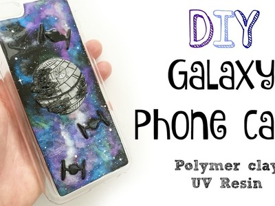 DIY Galaxy Effect Phone Case Tutorial [Star Wars]