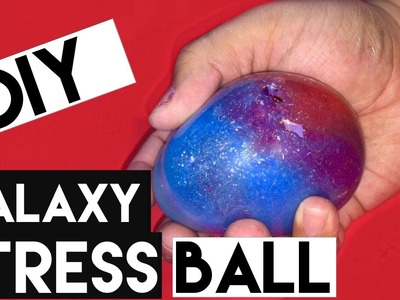DIY | Galaxy Stress Ball - HOW TO MAKE A STRESS BALL GALAXY. NEBULA!!!