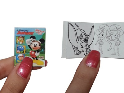 DIY Miniature ☺Drawings Book☺ for Dollhouse TUTORIAL - Crafts