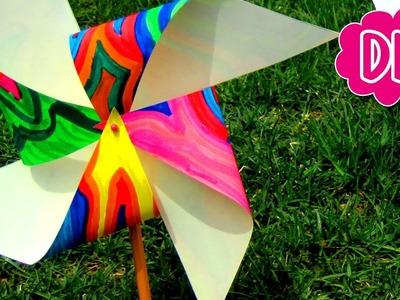 DIY PINWHEEL Easy Kids Science