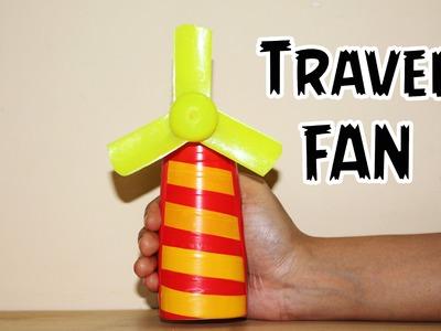 How to make a mini Portable Travel Fan | Easy Powered Fan | DIY Fan