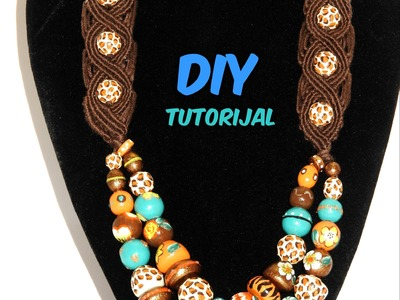 How to make macrame necklace ( My Africa) DIY