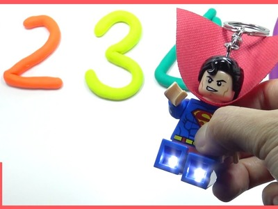Learn Numbers Play Doh with Lego Lighting Superman ♡ DIY Fun and Creative For Kids | MariAndKids