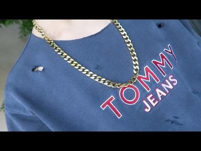 TOMMY HILFIGER x YEEZY!!! (Distressed DIY)