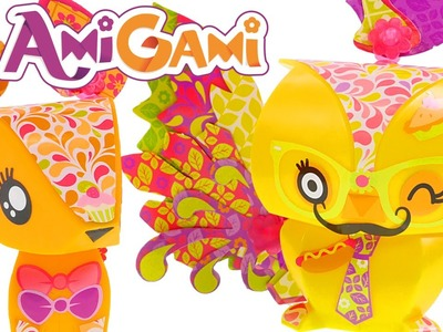 AmiGami Fox and Owl Kit   How To Make Fun DIY Origami Animals Crafts with DCTC