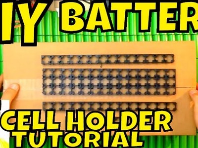 DIY Battery: tutorial how to put 18650 cell holder together - Lithium batteries spacer separator