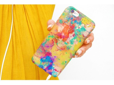 DIY Color Water Marble Phone Case