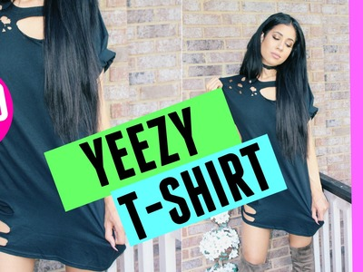 DIY KANYE WEST RIPPED DISTRESSED T SHIRT    LEXI NOEL