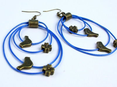 DIY Leather Cord Earrings