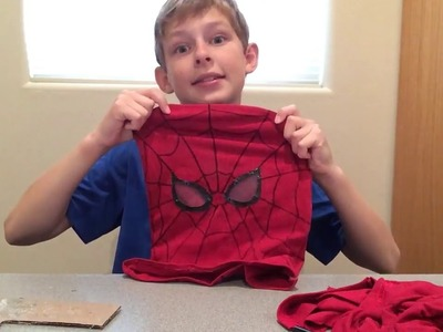 DIY spiderman mask tutorial
