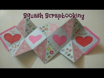 DIY Squash Scrapbook Card Making Easy Tutorial | CraftLas