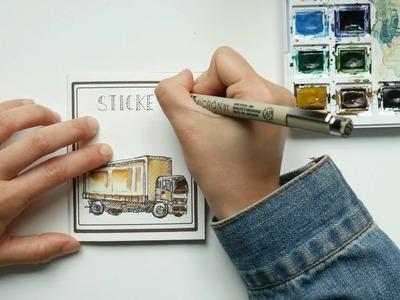 DIY sticker booklet