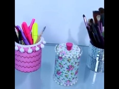 DIY Three ideas for home office decoration   5 Minute Crafts