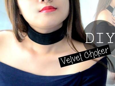DIY Velvet Choker