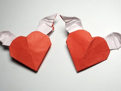 Easy origami WINGED HEART tutorial - DIY (Henry Phạm)